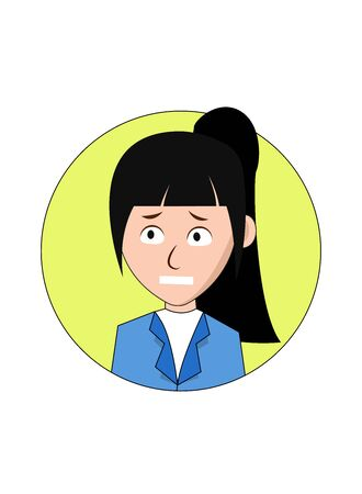 Worried Businesswoman Cartoon Character