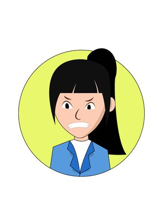 Angry Businesswoman Cartoon Character