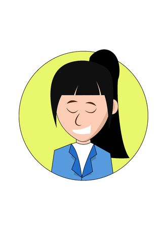 Happy Businesswoman Cartoon Character laughing