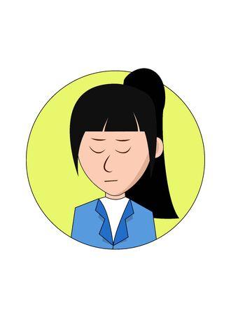 Sad Businesswoman Cartoon Character Foto de archivo