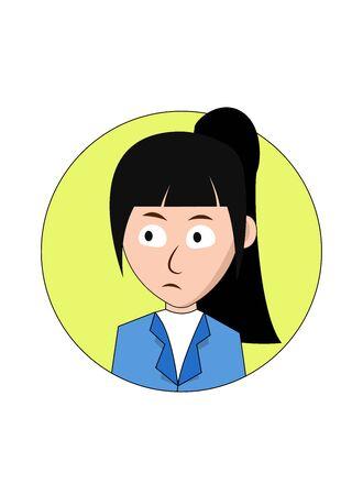 Speechless Businesswoman Cartoon Character Foto de archivo