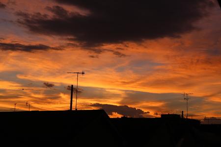 burning sky. Stock Photo