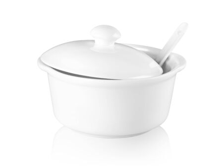 Ceramic tureen isolated on a white background