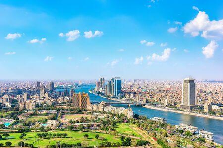 View on modern Cairo 版權商用圖片