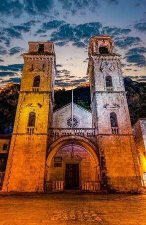 Saint Tryphon church at sunrise