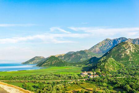 Mountains and Skadar lake Imagens