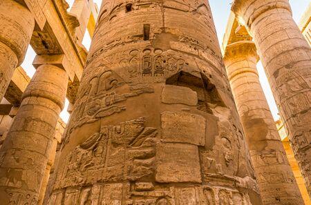 Sunlight over columns in Karnak Banco de Imagens