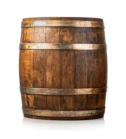 Wooden cask isolated