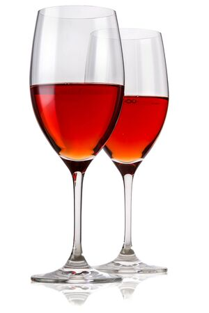 Two glasses with wine Imagens