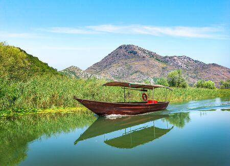 Boat on Scadar Lake Imagens