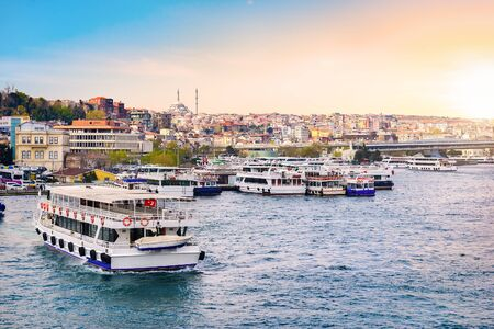 Sunset in Istanbul Imagens