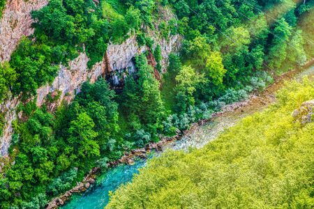 River Tara in mountains of Montenegro, view from above