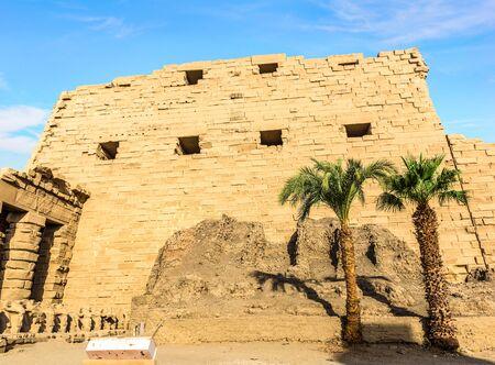 Architecture of Karnak background.