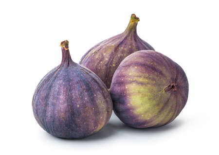 Three figs isolated