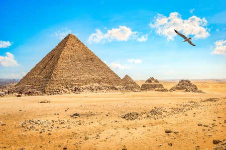 Cloudy sky in Giza Archivio Fotografico