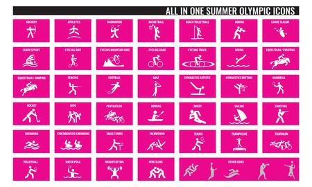 Sport symbool tekenen Stock Illustratie