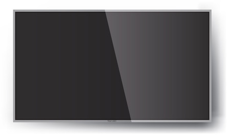 lcd: Smart TV Mock-up, Vector TV Screen, LED TV hanging on the wall.