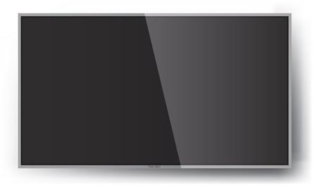 Smart TV Mock-up, Wektor ekranu TV, TV LED wiszące na ścianie. Ilustracje wektorowe