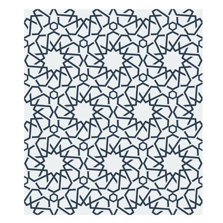 tessellation: Ornamental seamless loop arabic or islamic geometric pattern tiles. Tessellation background with orange lines