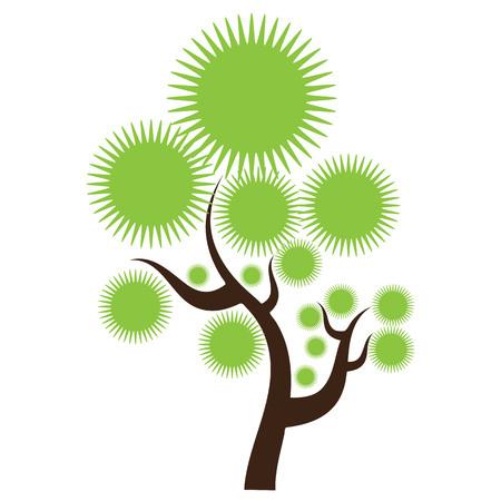 árbol estilizado abstracto creativo. Diseño sólido y plano de color. vector ilustrado