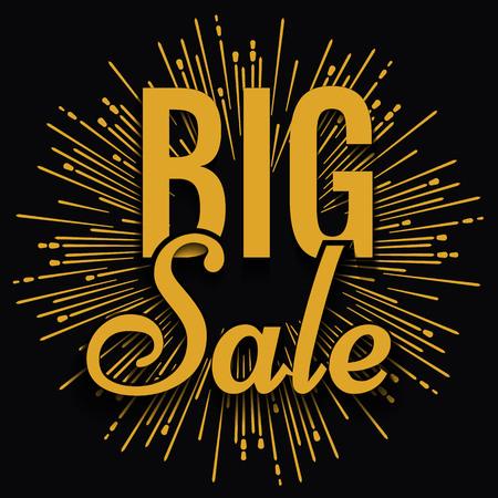 sale tag: Super creative unique Super Big Sale with vintage golden hand drawn star or sunburst background. Sale background. Big sale. Sale banner. Vector Sale poster. Special offer tag.