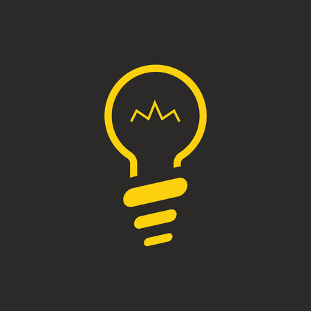 solid color: Lamp or bulb Icon with Flat and solid color design. For web and UI or smart house concept. Flat lamp bulb icon.