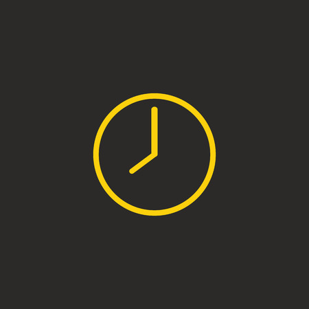 expressing: Clock icon for expressing time, alarm, watch and other. Flat color design Icon for web, ui, smart house concept