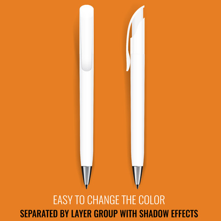 up marker: Pen Vector. Realistic Pen Pencil Marker. Corporate Identity And Branding Stationery. Promotion gift. Illustration Isolated. Layerd grouped. Mock Up Template. Design Element. Easy to change color.