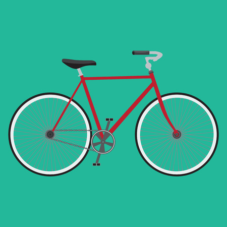solid color: Bicycle icon. Detailed Bicycle icon solid and flat color design. Isolated background Illustration