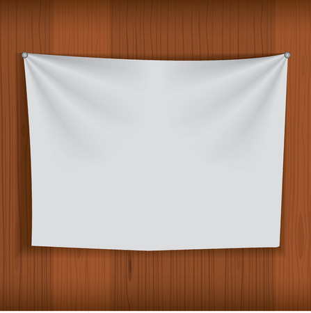 purdah: Background for poster mockup with realistic fabric curtain hang on wood wall. Unique and creative background idea for your design.