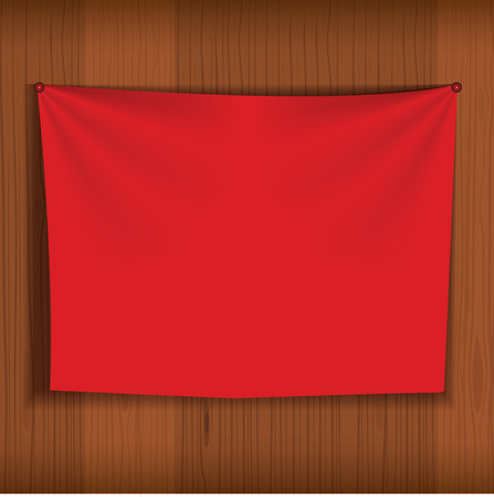 Background for poster mockup with realistic fabric curtain hang on wood wall. Unique and creative background idea for your design.