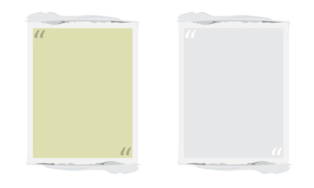 torn edges: Vector Quote Box. Painted square shape with distress texture and torn edges. Brush stroke frame for your text. White grunge speech bubble.