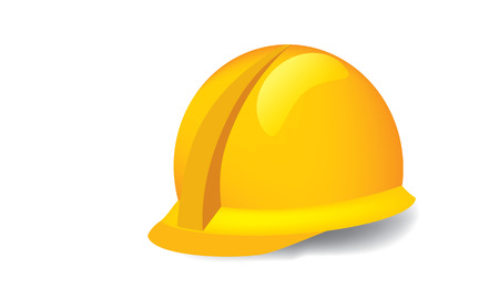 mine site: Illustrated vector of construction hardhat against white background Illustration