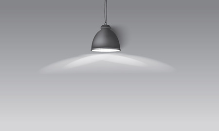 expansive: Illustrated gray background with hanging lighting lamp great room space for your abstract design