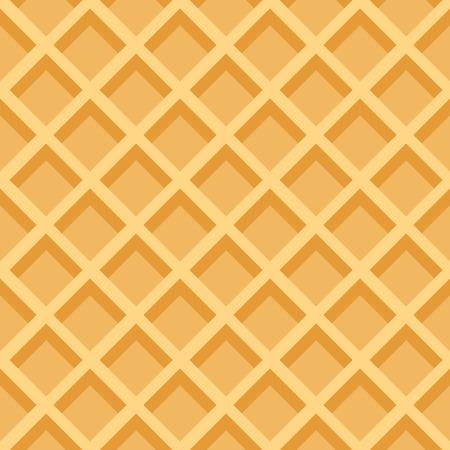 ワッフル シームレス パターン。甘いものやおいしい食べ物の背景単色デザインに