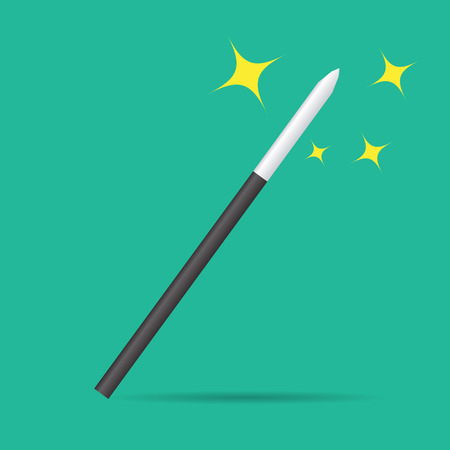 Magicians magic wand isolated. Realistic illustration vector