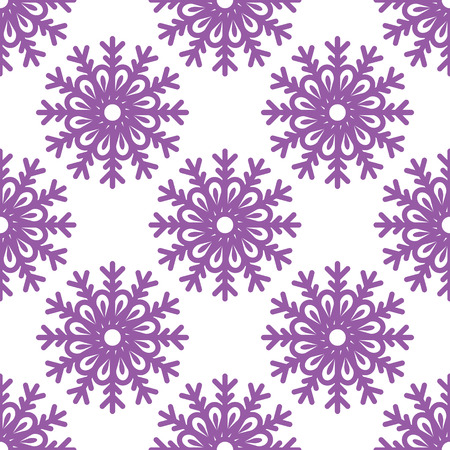Seamless pattern with snowflakes. Continuous looping snow pattern for your background.