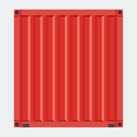 solid color: Cargo container for shipping with flat solid color design