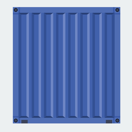 Cargo container for shipping with flat solid color design