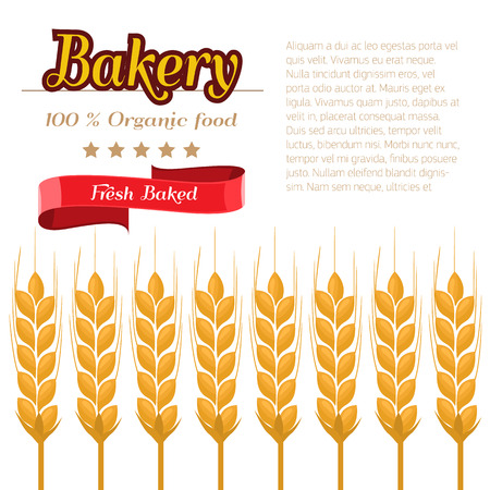 Package design for Bakery. Flat and solid color design vector illustration
