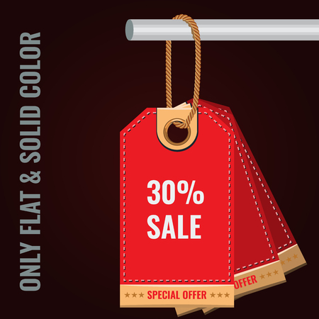 Special sale or discount offer tag banner. Solid and Flat color style design vector Illustration