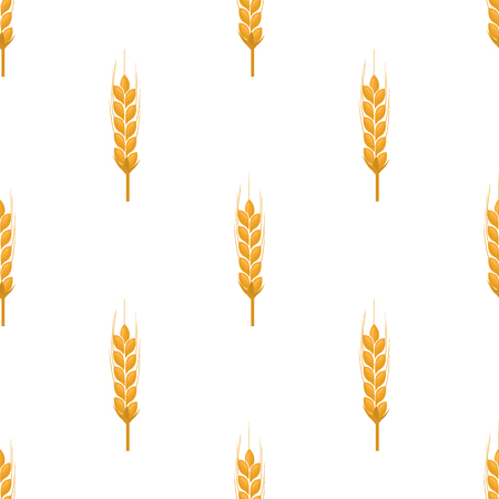 Vector seamless pattern with wheat ears. Organic food concept background for bakery package, bread products.