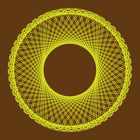 twist: Abstract circular background with looping lines. Vector illustration.
