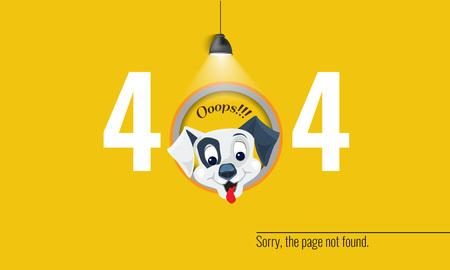 404 연결 오류 일러스트