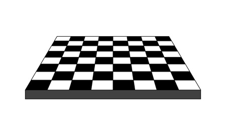 Empty chess board with perspective view, vector illustration.