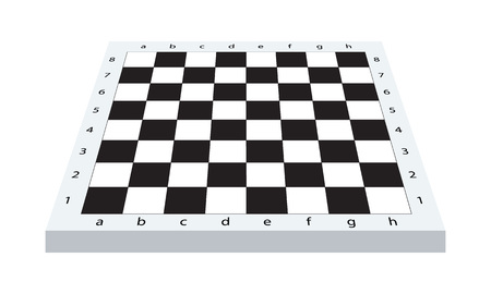 Empty chess board with perspective view, vector illustration. Banco de Imagens - 87901456