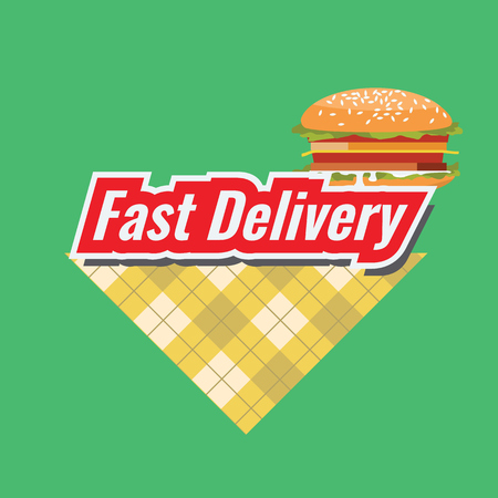 Fast Delivery concept Logo or icon with minimalism style. Flat and solid color design.