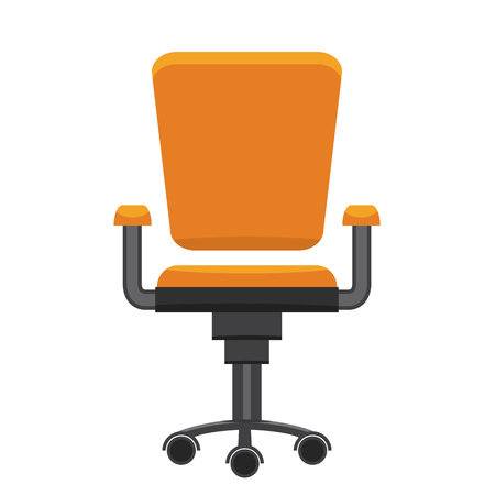 Modern office chair. Flat and solid design vector illustration. 向量圖像