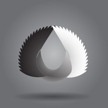 Modern Abstract circle geometric element.