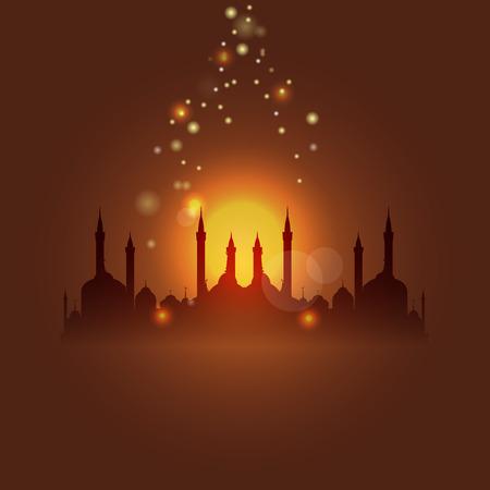 Muslim building image illustration